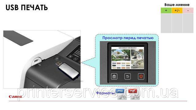 Печать с USB на Canon iPF TX series