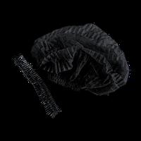 Шапочка одноразовая  «Гармошка», Черные