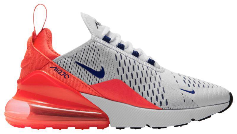 Кроссовки Кеды (Оригинал) Nike Air Max 270 White Ultramarine Solar Red Black Metallic  Silver a653416ab81bf