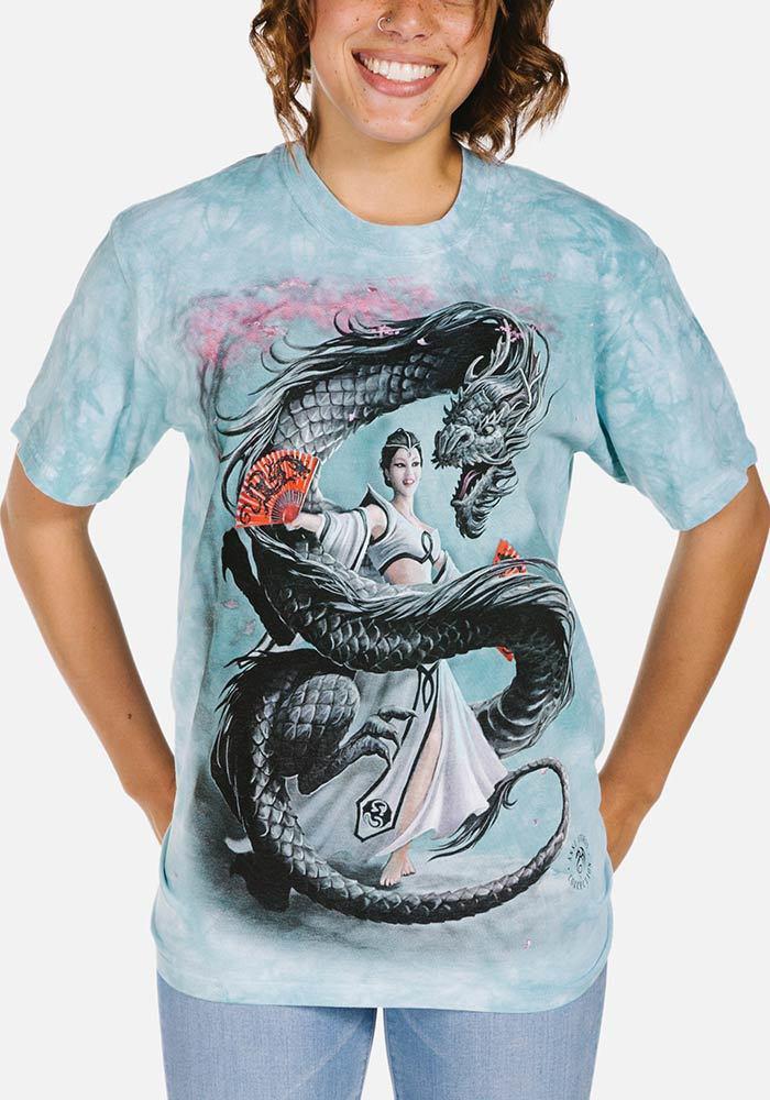 3D футболка женская The Mountain р.S 46 RU футболки женские с 3д рисунком Dragon Dancer
