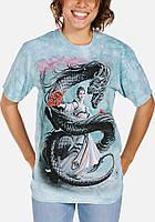 3D футболка женская The Mountain р.S 46 RU футболки женские с 3д рисунком (Танцующий Дракон)