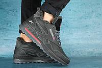 Мужские зимние кроссовки Reebok Черные 10290 Реплика