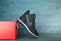 Детские зимние кроссовки Nike Синий\Голубой 10553 Реплика