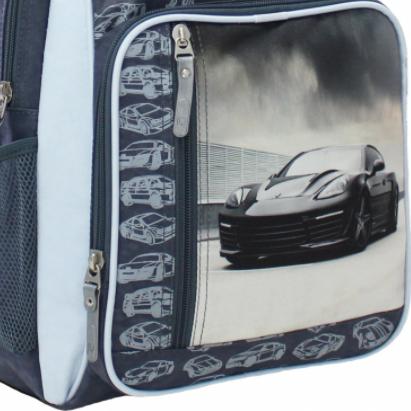 принт машина на рюкзаке