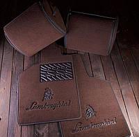 Автомобильные текстильные коврики для салона Lamborghini Gallardo(cabrio)(L140) 2006-2013 коричневый Premium