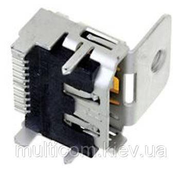 01-08-116. Гнездо HDMI монтажное, PCB тип