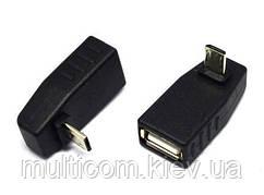 01-08-228. Переходник гнездо USB тип A - штекер micro USB, угловой