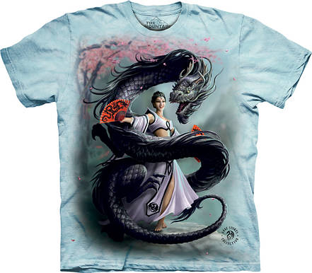 3D футболка женская The Mountain р.S 46 RU футболки женские с 3д рисунком Dragon Dancer, фото 2