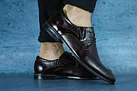 Мужские классические кожанные коричневые туфли 10614