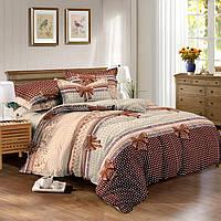 Полуторный комплект постельного белья 150х220 Бантики из сатина