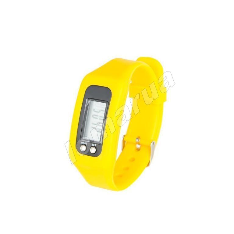 Фитнес браслет часы шагомер счетчик калорий Yellow