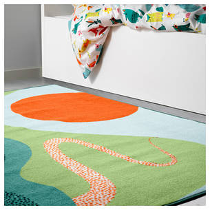 ЛАТТО Ковер, короткий ворс, разноцветный, 120x160 см 50357808 IKEA, ИКЕА, LATTJO, фото 2