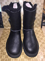 UGG Bailey Button Bling Leather Black (Брак)