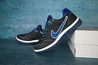 Детские кожаные кроссовки Nike Синий\Голубой 10636 Реплика