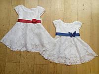 Кружевное платье. Размеры: 6,12,18,24,30,36 М