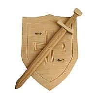 Меч 57 см и щит Английский рыцарский 42х32 см, фото 1