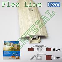 Гибкий порожек между ламинатом и плиткой Cezar Flex Line, L- 6,0 м. Дуб аспен