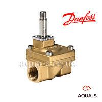 Двухпозиционный двухходовой  электромагнитный клапан DANFOSS с сервоприводом EV220A 1/2'' kv4 м3/ч NC 042U4024
