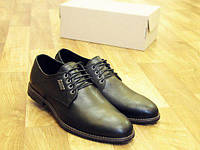 Мужские туфли дерби, черные, классика, кожаные (ТОП качество)