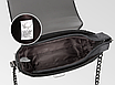 Небольшая сумка женская через плечо серая , фото 3