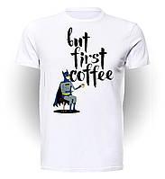 Футболка мужская размер L  GeekLand Бэтмен Batman coffee BM.01.002