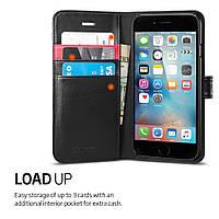 Книжка-Чехол Spigen для iPhone X Wallet S, Black, фото 1