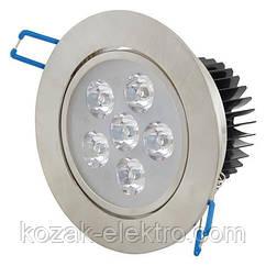 Светильник точечный VERA - 6 Вт  LED (HL675L) 6400K