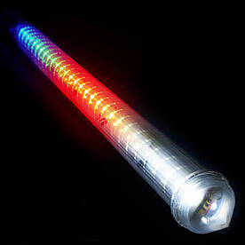 Гирлянда Сосулька светодиодная, 1шт., 60 см (Белая /Синяя/ Мульти)(Сосул_1-60)