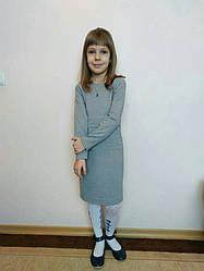 Модное повседневное детское платье свободного стиля, размеры: 128-152