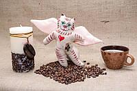 Кофейная игрушка Vikamade Кот ангел