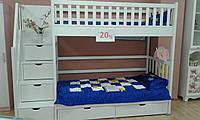 Двухярусная кровать с лестницей -комодом
