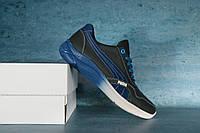 Мужские кроссовки Puma 10721 Черный/Синий Реплика