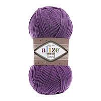 Cotton gold tweed - 616 фиолетовый