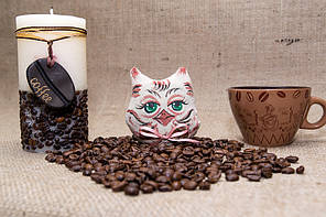 Интерьерная кофейная совушка магнит.