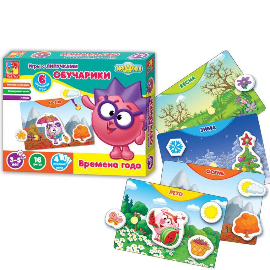 Игра с липучками Vladi Toys Обучарики Времена года (Рус) (VT2307-03)