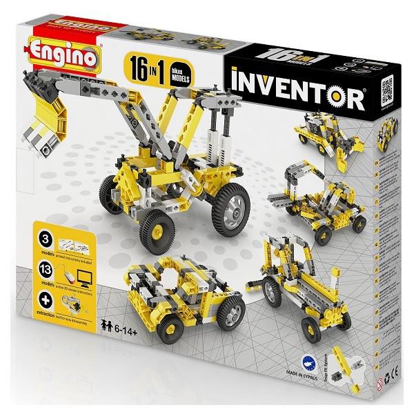 Конструктор серии INVENTOR 16 в 1 Строительная техника Engino