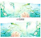 Набор 4 листа, слайдеры наклейки большие, вода С 200-203, фото 7