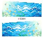 Набор 4 листа, слайдеры наклейки большие, вода С 200-203, фото 6