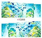 Набор 4 листа, слайдеры наклейки большие, вода С 200-203, фото 8