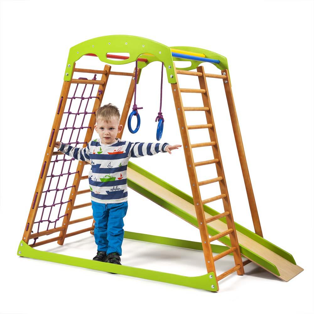 SportBaby Детский спортивный комплекс для дома BabyWood