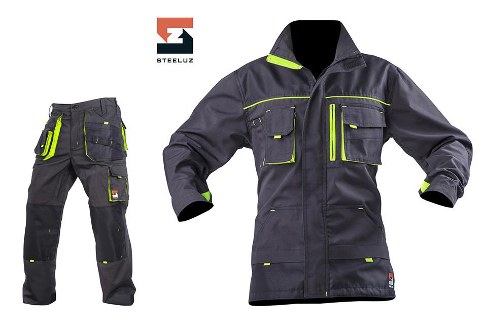 Костюм рабочий SteelUZ куртка и брюки, салатовая отделка