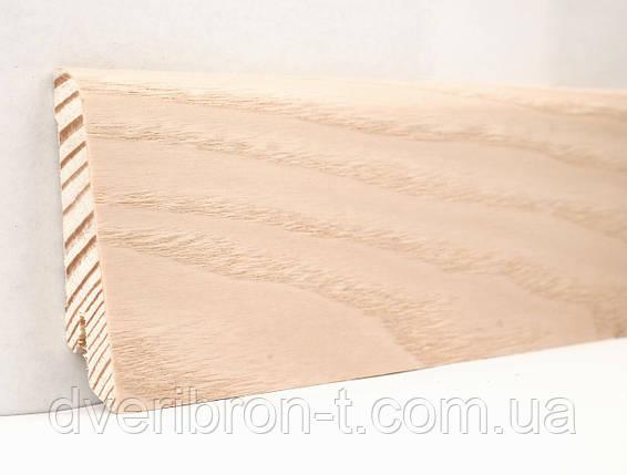 Плинтус Ключук Ясень выбеленный 18*60*2400 мм профиль евро, фото 2