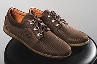 Мужские дышащие мокасины цвет коричневый 10763