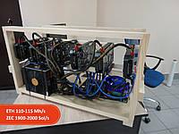 Майнинг ферма на 6 видеокарт PNY GTX1060 TWIN FAN 6GB (Hynix)