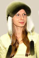Шапка-ушанка женская из меха норки., фото 1