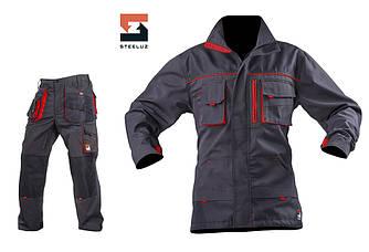 Костюм рабочий SteelUZ куртка и брюки, красная отделка 40