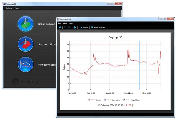 Програмное обеспечение EasyLog для термологгера