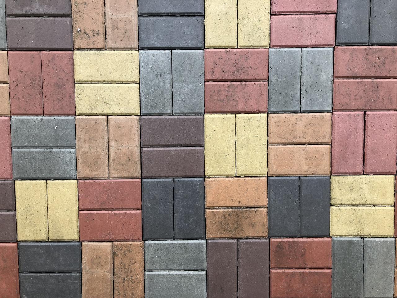 Тротуарная плитка Кирпичик стенд 4-6