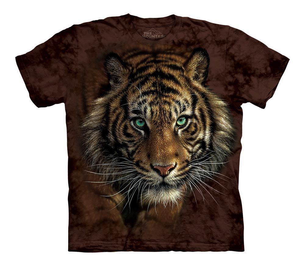 3D футболка для мальчика The Mountain р.XL 13-15 лет футболки детские с 3д принтом рисунком (Крадущийся Тигр)