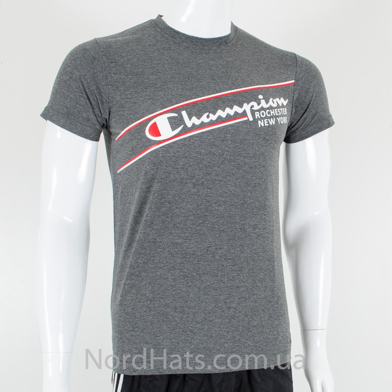Спортивная футболка, Champion (серый меланж)